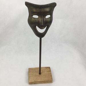 Brass Tone Comedy Mask